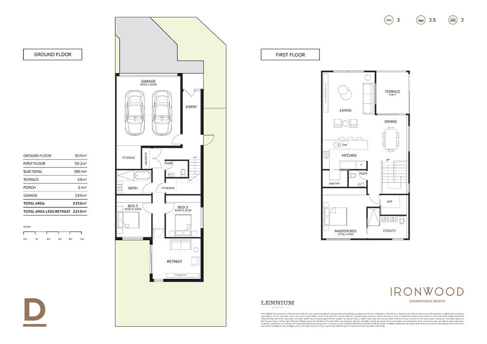 Ironwood floorplan D