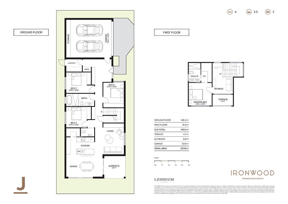 Ironwood floorplan J