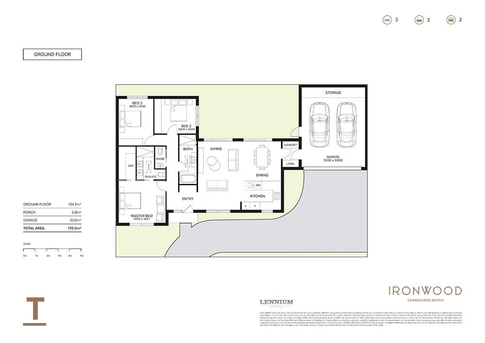 Ironwood floorplan T